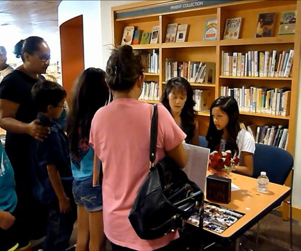 Alexis at her first book signing.